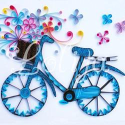 衍纸自行车的制作方法 DIY卷纸单车的做法图解