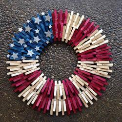 木夹子圆环挂饰DIY 手工制作木夹子环形装饰品