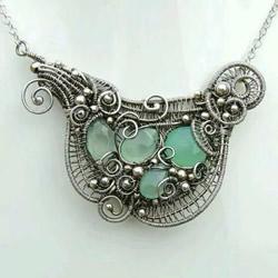 美轮美奂的金属丝绕线饰品 轻易俘获女生的心