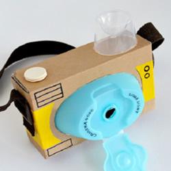 手工制作儿童玩具相机 简单纸盒相机的做法