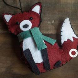 简单又可爱的不织布狐狸钥匙扣手机链挂件制作