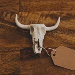 软陶山羊头骨挂件制作 个性山羊头骨饰品DIY