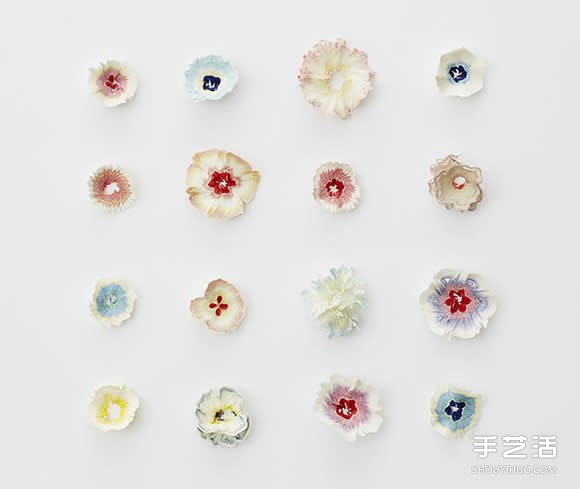 用削铅笔器DIY出一朵朵永生的美丽纸花朵