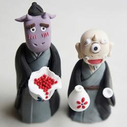 《夏目友人帐》两只中级妖怪超轻粘土制作