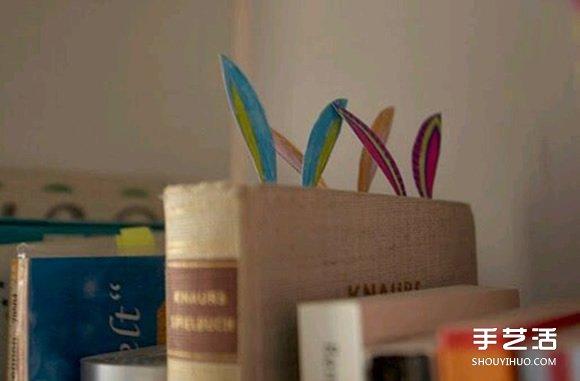 小兔子书签制作方法 卡纸制作兔子书签教程