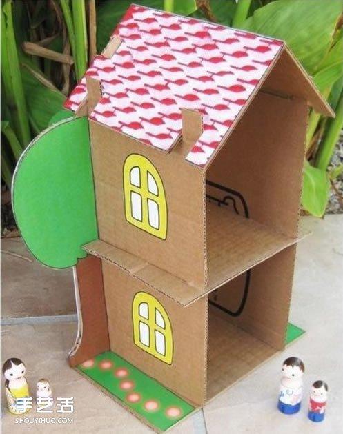 兒童紙房子手工制作方法 紙房子模型制作圖解