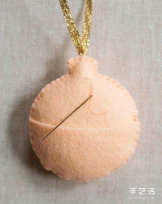 不织布小饰品DIY制作 简单布艺挂件手工制作