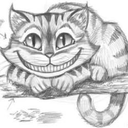 《爱丽丝梦游仙境》柴郡猫铅笔素描教程图片