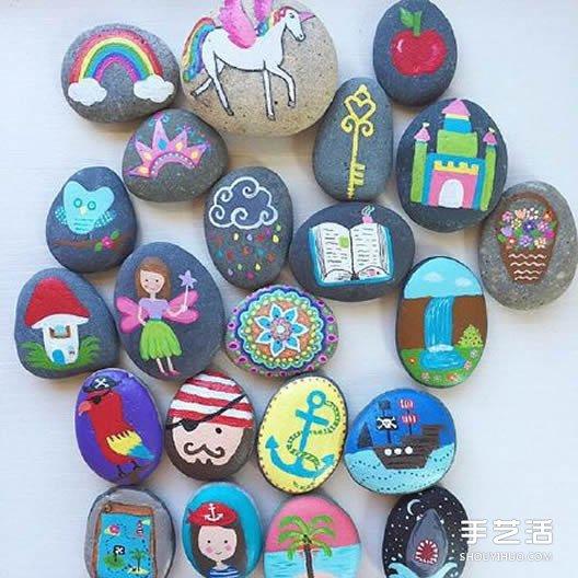 可爱手绘鹅卵石图片 让石头变废为宝的艺术