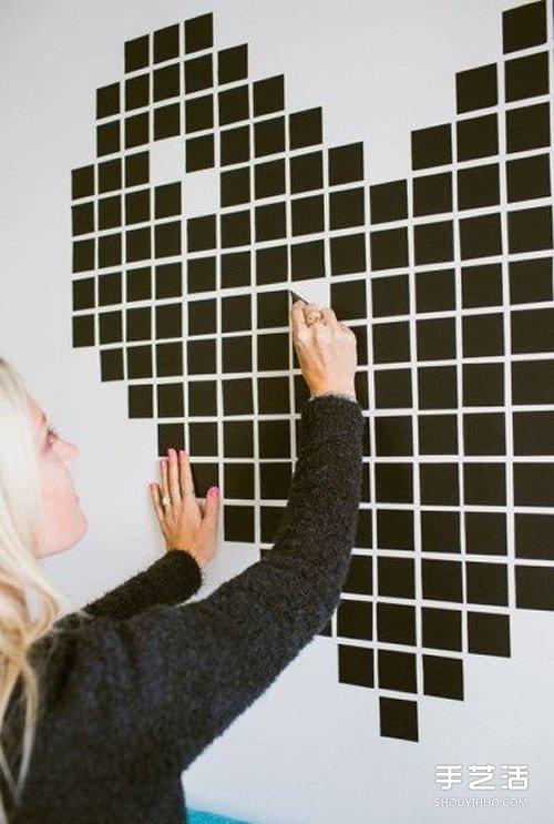 胶带创意画diy 简单小手工改造美化家居空间 手艺活网