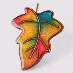 精美软陶胸针DIY教程 软陶树叶胸针制作图解