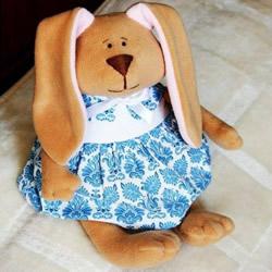 两种兔子布偶图纸 DIY布艺兔子制作图纸
