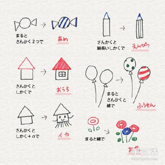 可爱的彩色手账素材 简单容易学的手账简笔画