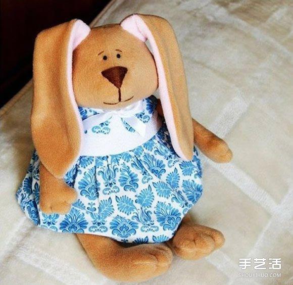 两种兔子布偶图纸 DIY布艺兔子制作图纸_手艺