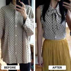 宽大旧衬衫改裙子的方法 旧衬衫改造裙子DIY