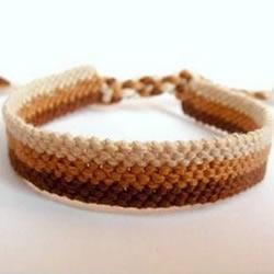 十股绳编织手链图解 成熟稳重风手链的编法