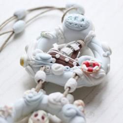 海洋风软陶装饰挂件制作 粘土挂件装饰DIY步骤