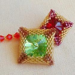 方形串珠饰品DIY教程 手工串珠宝石饰品制作