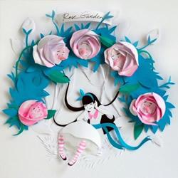 精致3D纸雕作品图片 让你陷入爱丽丝的世界~