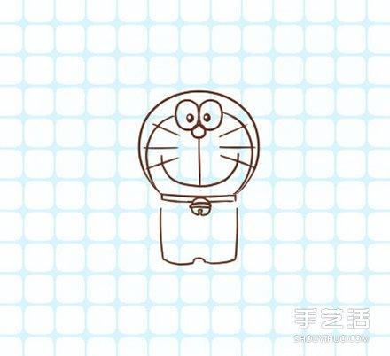 哆啦A夢簡筆畫圖片步驟 哆啦A夢簡筆畫帶顏色