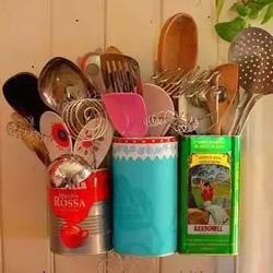 铁罐废物利用手工制作家居收纳 简单又好用