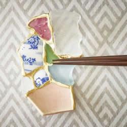 破碎陶瓷片的回收利用 日本金继修补过去
