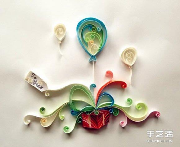 衍纸气球画制作步骤