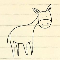 小毛驴的简笔画教程 简笔画毛驴的画法图片