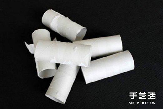 卷纸芯创意手工制作雪花