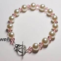简单水晶珍珠手链DIY 水晶珍珠串珠手链制作