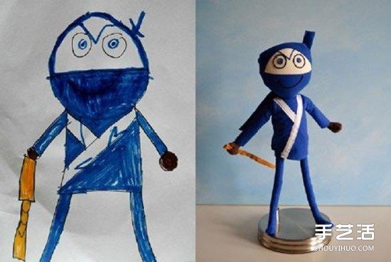 将4岁儿子涂鸦作品制作成毛绒玩具 爱心满满 -  www.shouyihuo.com