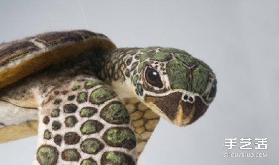 超逼真的羊毛毡海龟 让人不敢置信的手工作品 -  www.shouyihuo.com