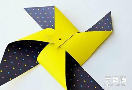 手工折纸风车图解教程