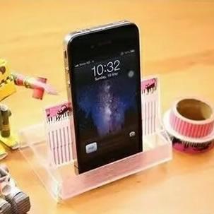 磁带盒废物利用小制作 做成好用的手机支