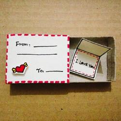 火柴盒贴画图片 简单小手工让火柴盒变废