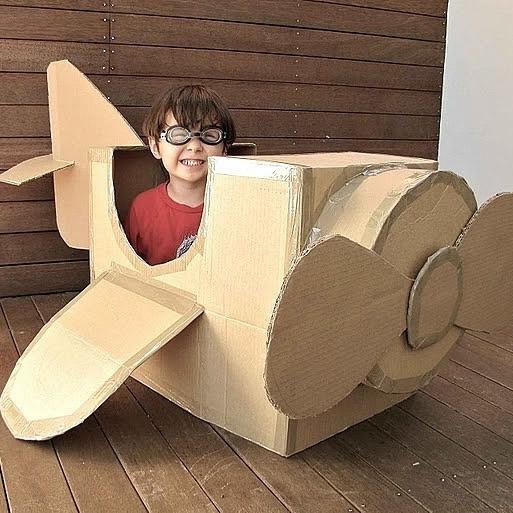 硬纸板玩具模型图片 大树飞机小船火车桥梁
