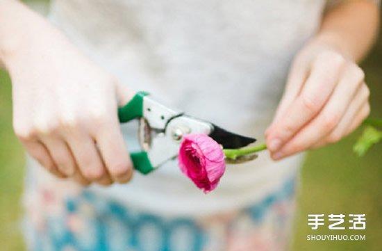 新娘花环头饰制作方法 DIY新娘鲜花花环教程 -  www.shouyihuo.com
