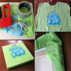 旧T恤改造装饰画DIY T恤装饰画的做法图解教程