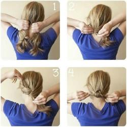 5分钟就能在家DIY的简约女生发型图解教程
