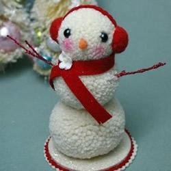 可爱毛线雪人手工制作 毛线球雪人玩偶DIY教程