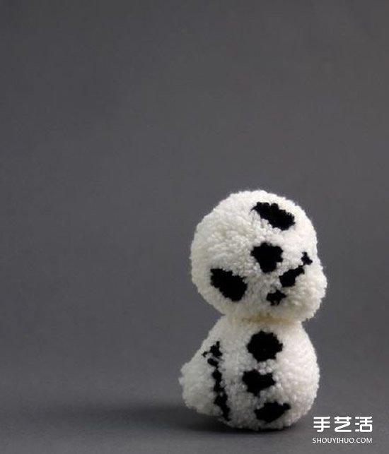 毛线球骷髅小人手工制作 用毛线做骷髅的方法