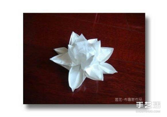 复杂莲花的折纸方法图解