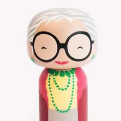 传统工艺与现代插画结合 日本木制娃娃木芥子