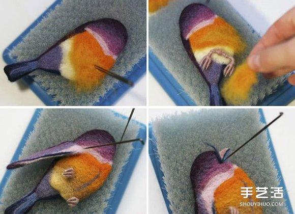 羊毛毡小鸟的制作方法 精美小鸟龙都娱乐品DIY -  www.shouyihuo.com