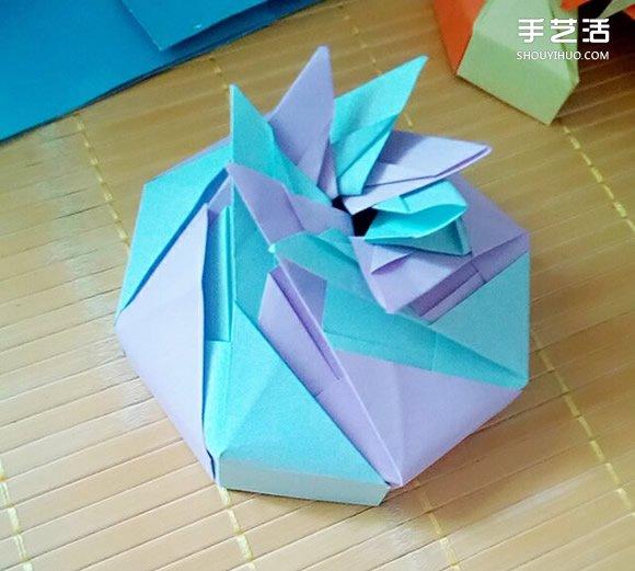 七夕礼盒的折纸方法 八边形纸盒的折法图解