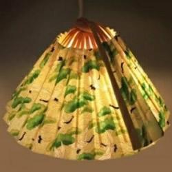 简单折扇做灯罩的方法 纸扇吊灯灯罩手工制作