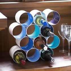 铁罐酒架的做法图解 铁罐手工制作酒架的方法