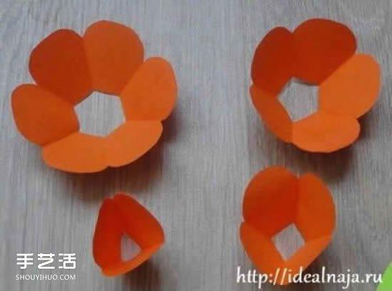 纸玫瑰的简单折法图解 折纸玫瑰花叶子步骤- www.jieyi.org