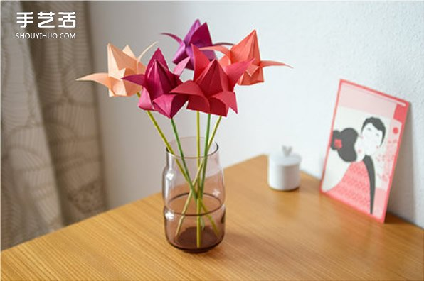 用纸怎么折百合花 百合花的折纸方法和图解