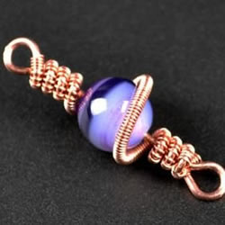 金属丝串珠挂饰DIY图解 精致绕线挂件手工制作